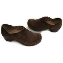 Dansko US 5.5 - 6 EU 36 Brown Suede Embroidered Clogs Slip On Comfort Shoes - $38.00
