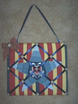Country Star Message Board Americana Fabric Stripe & Denim with Ribbons ... - $20.00