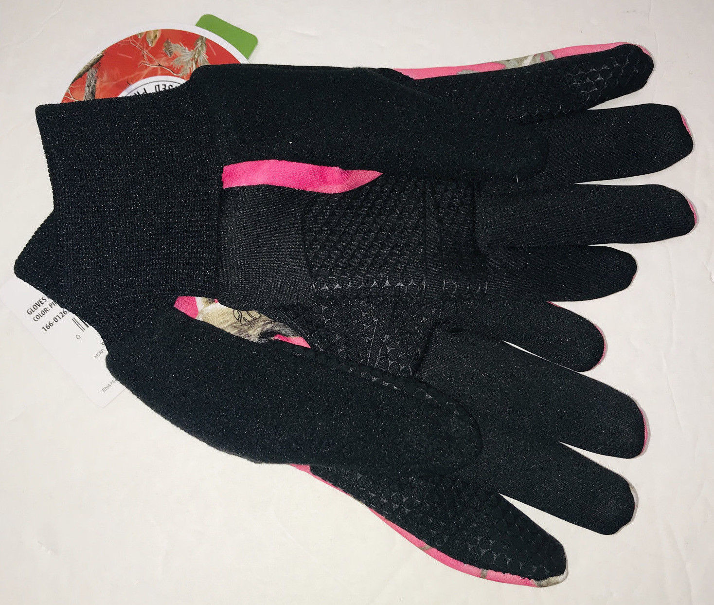 NEW Hot Shot Fleece Stretch Gloves Womens Medium Pink Camo Realtree APC Touch