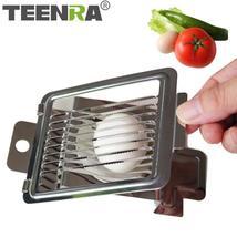 TEENRA 1PC Egg Cutter Stainless Steel Egg Slicer Strawberry Slicer Cutte... - €5,73 EUR