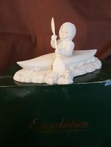 Dept 56 Snowbabies Crossing Starry Skies #68349 Snowbaby In Canoe - $12.60