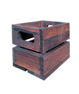 Vintage Wooden Small Box Crate rustic wall display nails storage craft g... - $19.91
