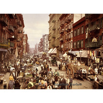 Mulberry Street, Little Italy, Lower Manhattan, 1900 NYC Color Image Pho... - $11.18+