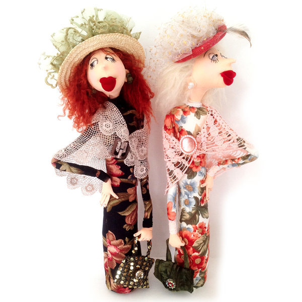 """Leonora and Lily"" PDF Digital Cloth Doll E-Pattern Download By Jill Maas"