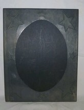 Irving's Tinware Company Punched Tin Metal Picture Frame Vintage Primiti... - $17.82