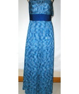 New Womens NWT Tahari Dress Sail Away Maxi Long Strapless Straps 2 Blue ... - $14.00