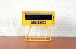 Authentic SEIKO Japan SQ815Y Digital Alarm Stopwatch Timer Yellow Clock - $107.80