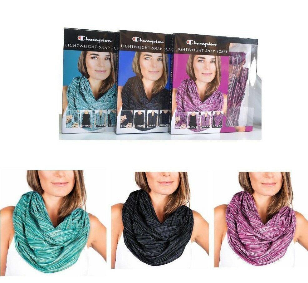 Champion Lightweight Snap Scarf Shrug Drape Choose Color Wear Different Ways NIP