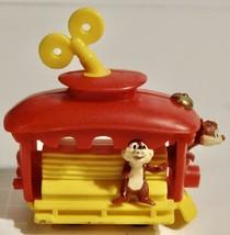 Vintage Disney 1993 Chip & Dale Chipmunks Wind up Trolley Burger King Toy - $3.95