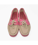 Sperry Top Sider Women's Sz 10M Pink Rose Leather Slip On Loafer Boat 92... - $24.95