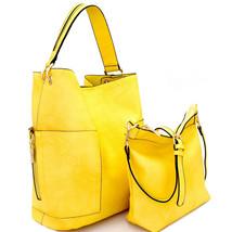 Handbag Republic® Side Pockets Tote w/ Inner Bag Crossbody- Yellow - $54.90