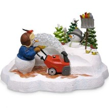 Lenox Snowblower Snowman Figurine Lynn Bywaters  Snow Day Surprise Birds... - $114.00