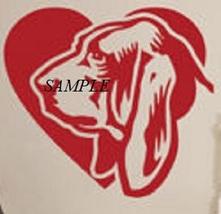 Basset Hound Love Single Colour PDF Cross Stitch Chart, Dogs, Pets - $8.00