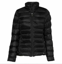 CARE OF BY PUMA Women's Size L Funnel Neck Puffer Jacket Black new sealed w/tags image 2
