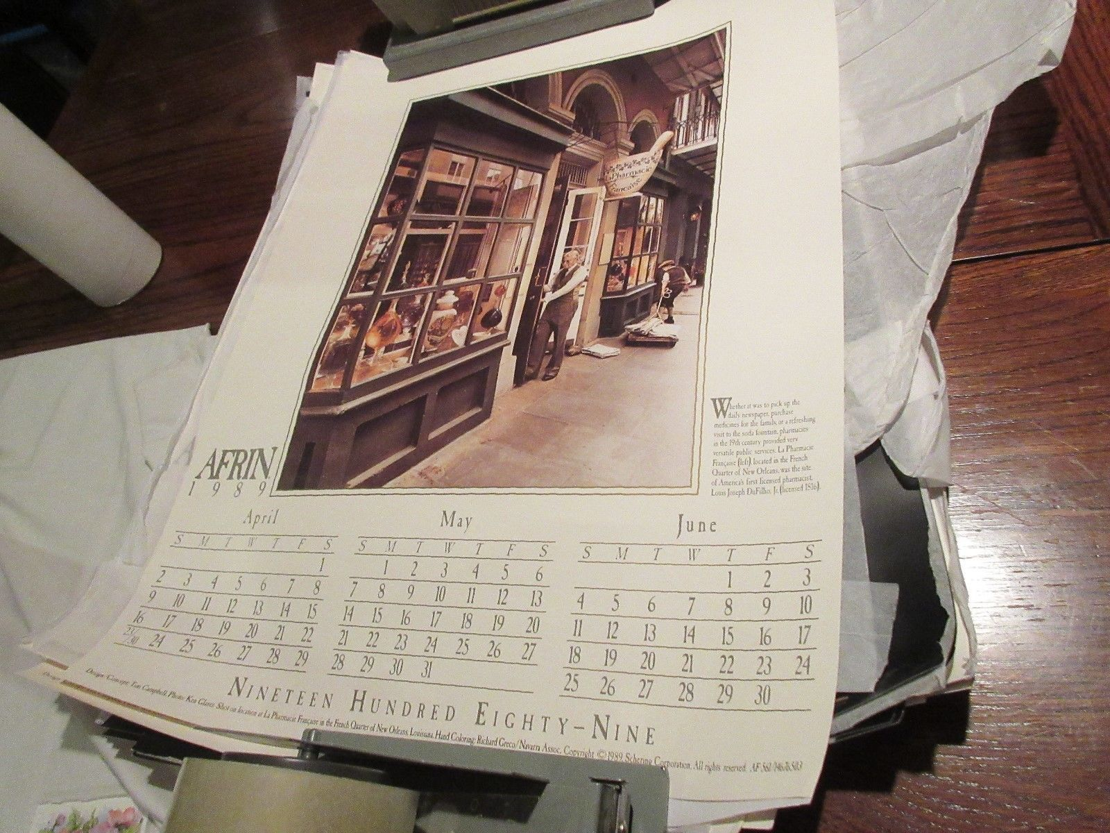 """Rx ,Pharmacy , POSTER ,18"""" X 24"""" ,Photographs Depicting History & Heritage ,1989 image 3"""
