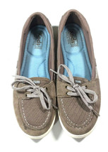 Keds Glimmer Women US 8.5 Gray Suede Boat Shoes Slip On Sneaker  - $19.34