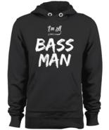 I'm A Bass Man Fishing Apparel Hoodie Fisherman Men Lure Sweatshirt Blac... - $43.95