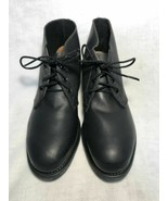 US NAVY USN MILITARY CHUKKA DECK SAFETY SHORT BOOTS SHOES LEATHER MEN'S 9 - $66.49