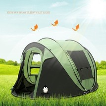 Camping Tent Quick Open Family Outdoor Picnic Tent Auto Open Large 5 - 6... - $181.57