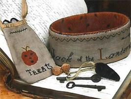 Jack of the Lantern Sewing Basket & Treat Bag cross stitch Stacy Nash Primitive  - $10.80