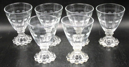 set/6 Anchor Hocking AHC3 Berwick Boopie Liquor Cocktail Stemware Glasse... - $34.16