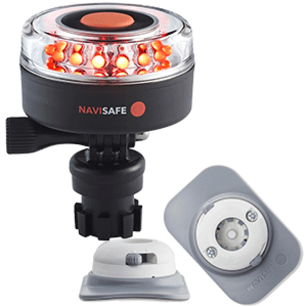 Primary image for Navisafe Navilight All RED 360° 2NM w/Navimount Base & RIB Mount - White