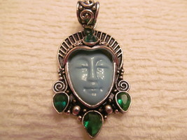 I AM GODDESS PENDANT WITH 5 SMALL EMERALDS - $25.00