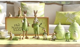 1 Piece Green Ornament Hand Rabbit Bunny Resin Gift for Friend Decor Fairy - €13,24 EUR