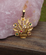 Vintage Crown Trifari© Rhinestone Flower Pendant, Dearest Collection - $65.00