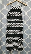 NEW Crochet Lace Romeo + Juliet Couture Dress Large Black White $218 Strap  - $29.09