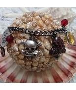 Betsey Johnson Charms Goth Halloween Skull  - $28.99