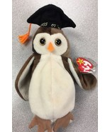 Beanie Babies Baby TY Wise the Owl 1997 1998 Retired Collectible Tag Err... - $19.79