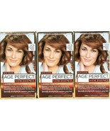 (3) L'Oreal Paris Age Perfect By Excellence 5CB Medium Soft Chestnut Brown - $27.71