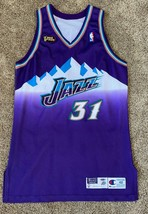 ADAM KEEFE NBA FINALS UTAH JAZZ GAME USED WORN JERSEY CHAMPION MOUNTAIN 48 +3 - $741.99
