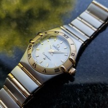 OMEGA Ladies Constellation 14K & SS MOP Dial Dress Watch, c.1990s Swiss MA80 - $1,950.20