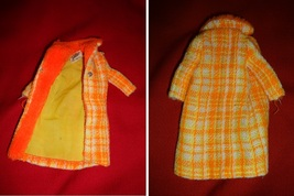 vintage Barbie fashions COTTON CASUAL dress+RED FLARE coat+MADE FOR EACH... - $14.00