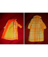 vintage Barbie fashions COTTON CASUAL dress+RED FLARE coat+MADE FOR EACH... - $18.00