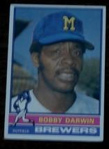 Bobby Darwin, Brewers,  1976  #63   Topps Baseball Card, GOOD CONDITION - $0.99