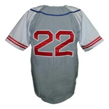 Hollywood Stars Retro Baseball Jersey 1950 Button Down Grey/White Any Size image 5