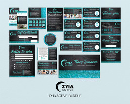 Glitter Marketing Bundle, Zyia Active Business Card, Active Business Car... - $39.99