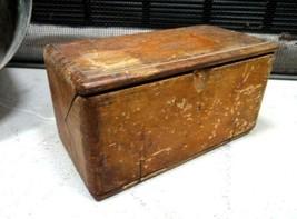 1889 Antique Singer Wood Sewing Machine Accessory Box Primitive,Folding,Trick - $84.95