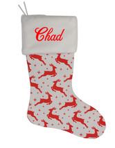 Chad Custom Christmas Stocking Personalized Burlap Christmas Decoration - $17.99