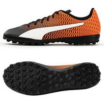 Puma Rapido II TT Football Boots Soccer Cleats Shoes Black/Orange 10606203 - $64.99