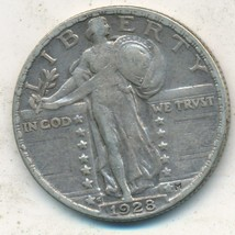 1928-S STANDING LIBERTY SILVER QUARTER-VERY NICE CIRCULATED QUARTER-SHIP... - $21.95