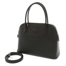 HERMES Bolide 27 Veau Epsom Leather Black Silver Hardware Handbag #D France - $8,113.45