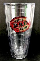 Tervis Tumbler Besd Dad Ever Cup Hot Cold Beverage 16 oz  Brown Red - $12.19
