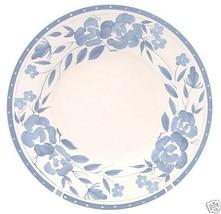 4 CAMBRIDGE POTTERIES BLUE FLORAL FLOWERS DINNER PLATES - $46.27