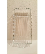 Vintage Clear Depression Glass Rectangular Dish with Handles - $20.00