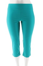 Wicked Women Control Petite Crop Pants Electric Teal P2X NEW A307764 - $20.77