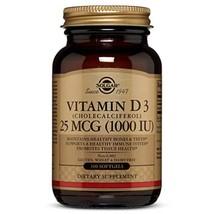 Vitamin D3 Cholecalciferol 25 mCG 1000 IU Softgels - 100 Count